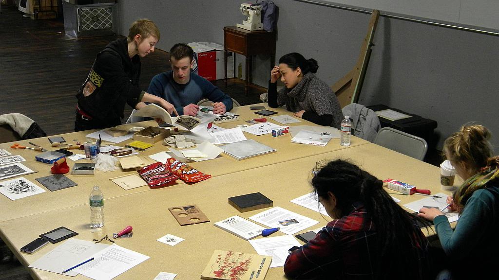 Relief printing class (Woodblock / Lineoleum)