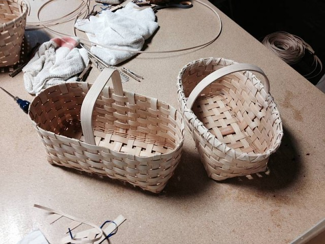 Some of the finished baskets