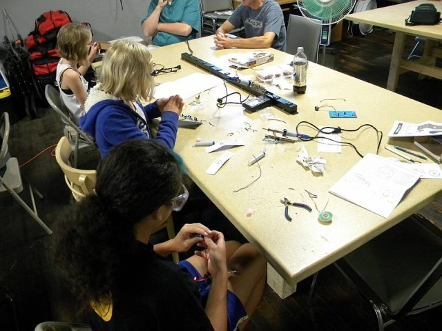 Soldering Class at the Rochester Makerspace