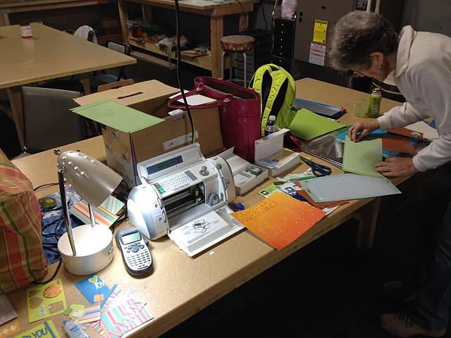 Leslie using our Cricut Machine