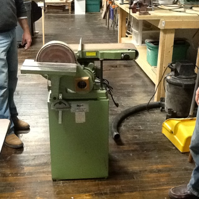 "Our ""new""  belt sander"